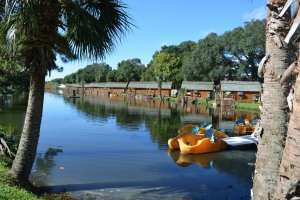 Lake and Kabins at St Augustine KOA
