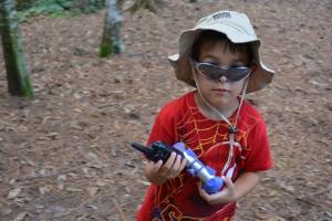 Logan on the exploring trail
