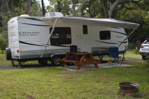 A comfortable day at Pellicer Creek Campground