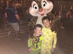 Logan and Gavin at the Campfire