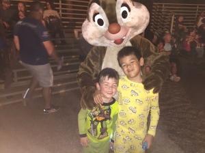 Logan and Gavin at the Campfire