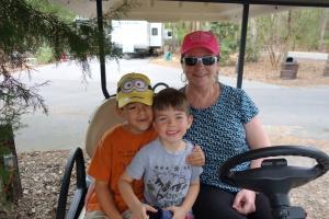 Fun on the golf cart